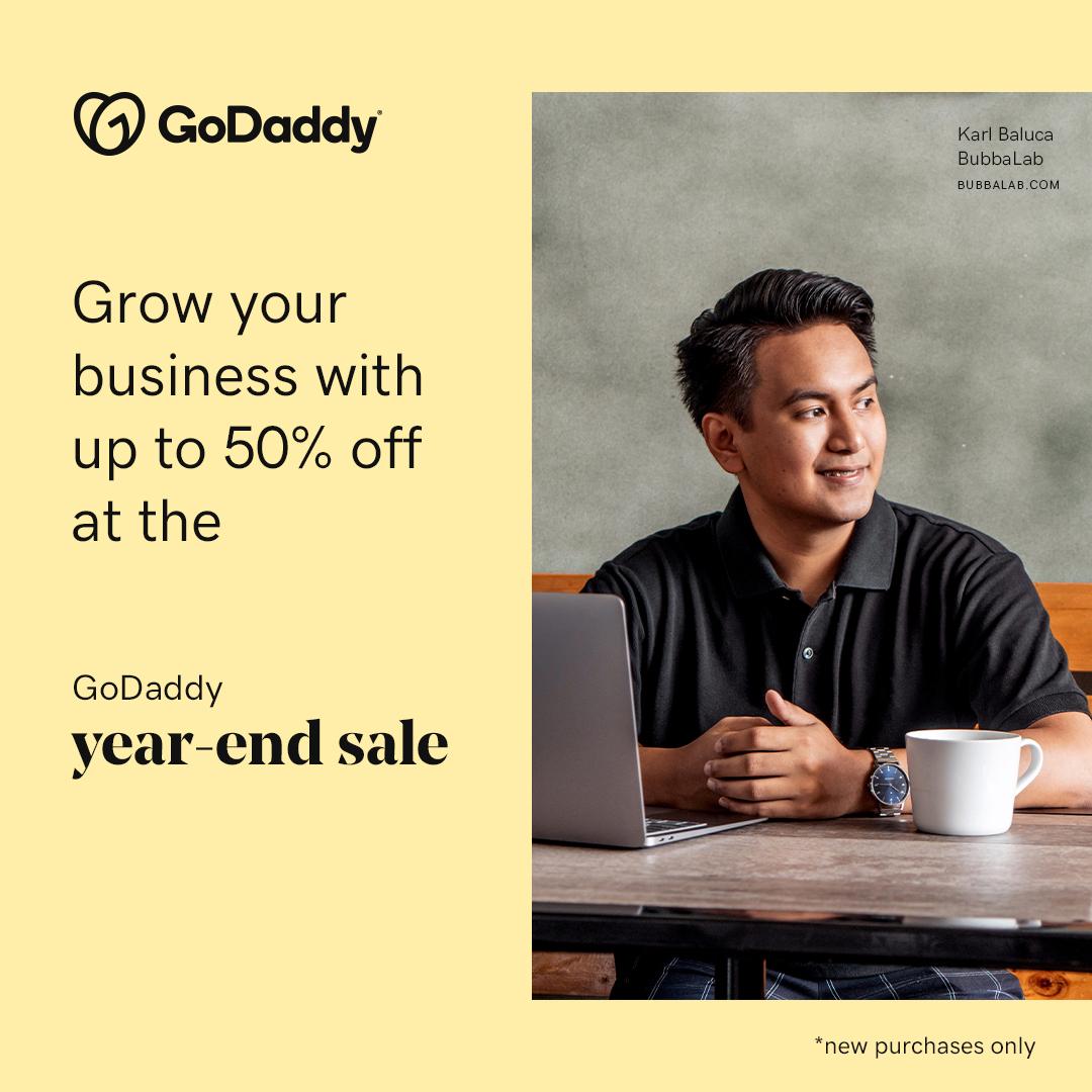 GoDaddy year-end sale