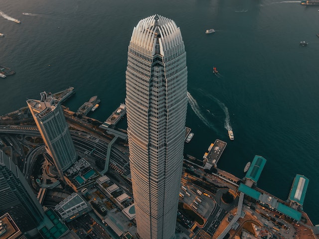 High rise building in the heart of Hong Kong