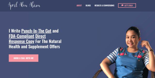 April Alen Abion Website