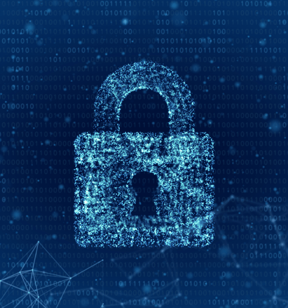 Blue digital lock