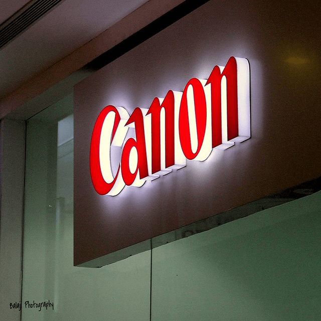 Photo of Canon sign