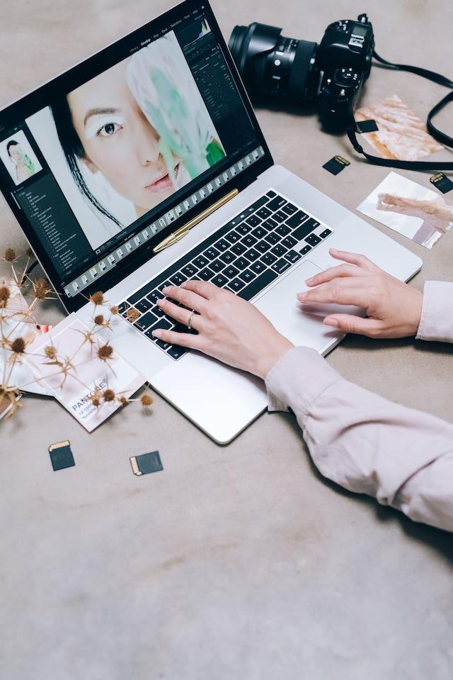 Editing Photo On Laptop