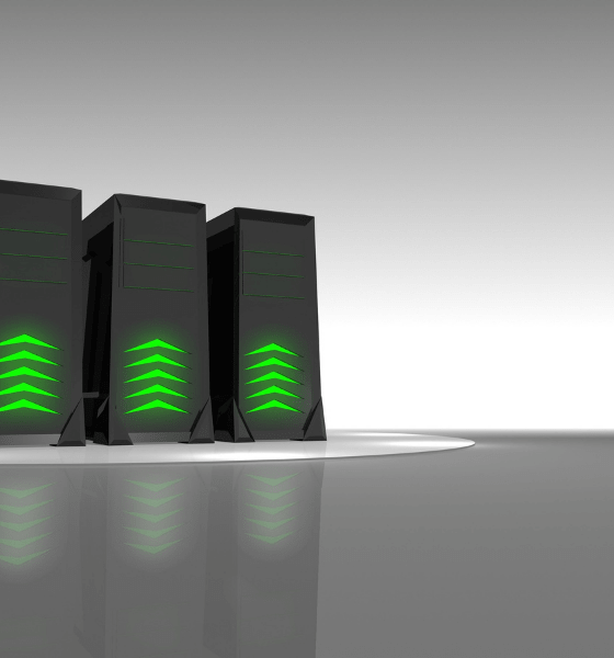 3 Hosting Servers on a grey background