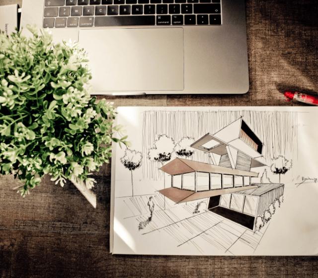Illustration Next to Laptop
