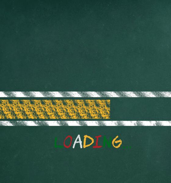 Loading bar on green background