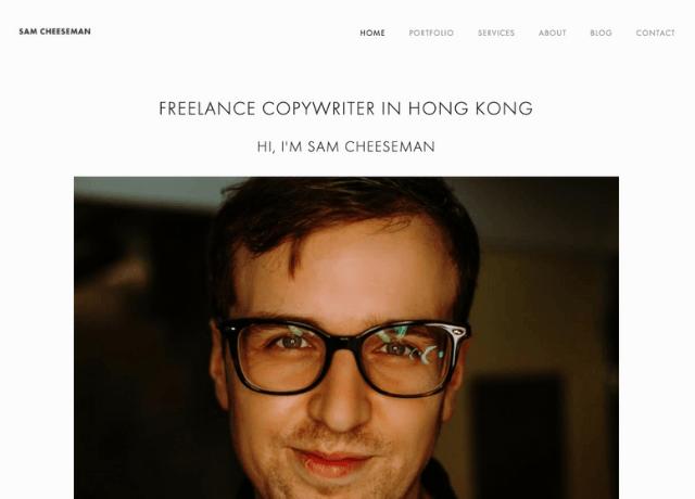 Sam Cheeseman Freelancer Website