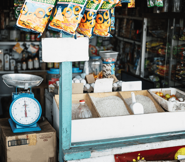 Store Front Selling Rice and Snacks