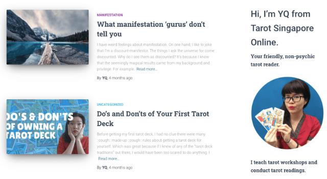 Tarot Online Class Screenshot