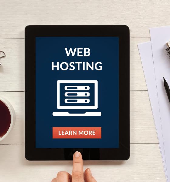 Web hosting image on iPad