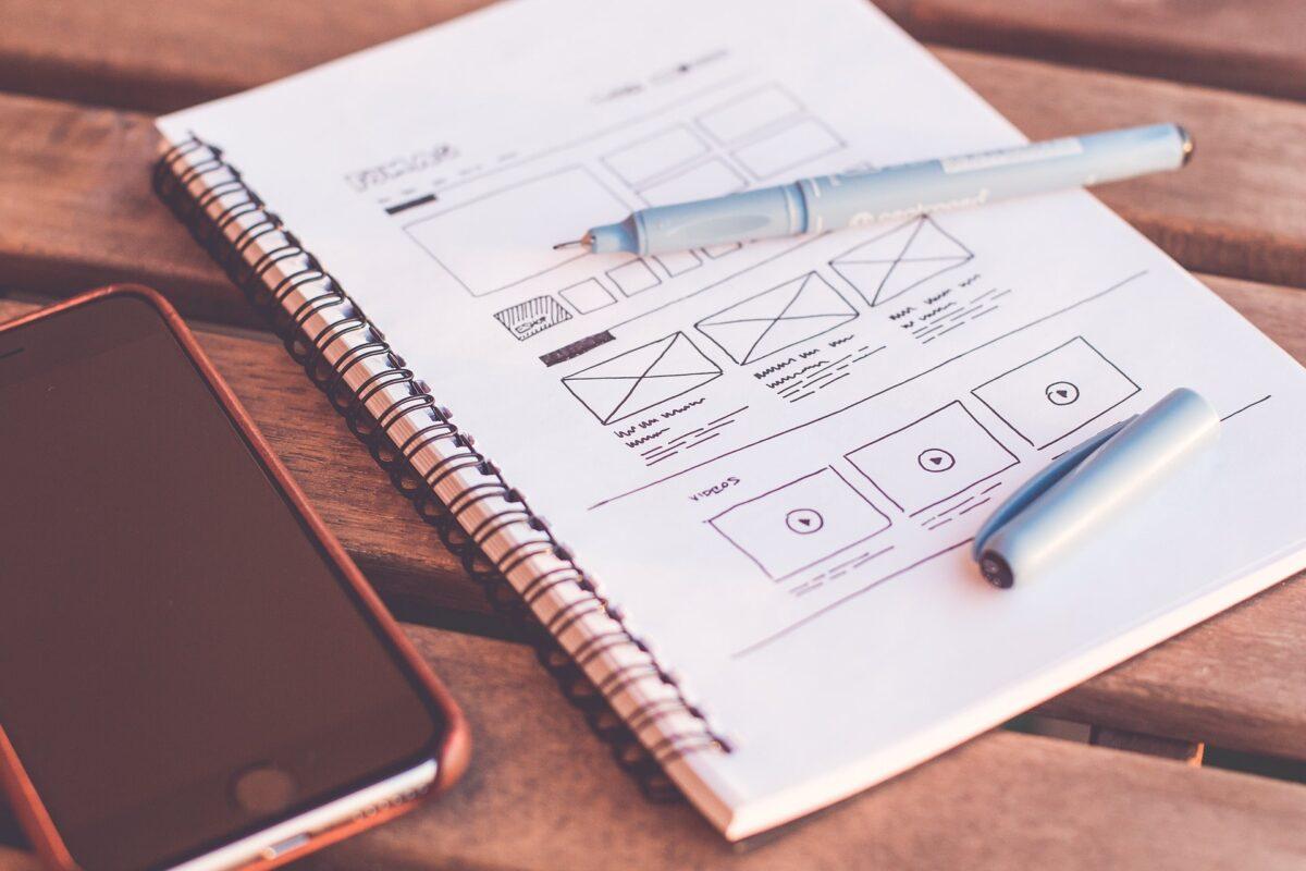 Website Planning On Notebook